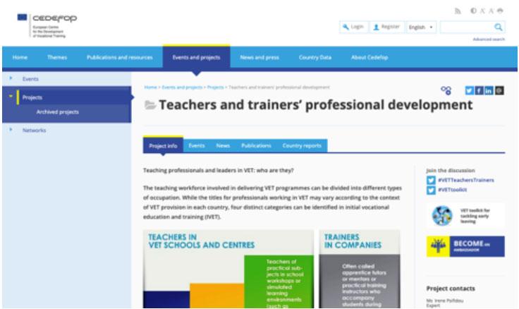 European Centre for the development of Vocational Training