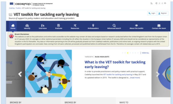 VET toolkit for tackling early leaving